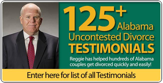 Testimonials for Reggie Smith Auburn Alabama Uncontested Divorce Lawyer